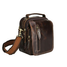Men Real Leather Small Sholder Messenger Bag Fanny Pack Belt Waist Bum Bag