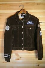 Women's L'Argentina Polo Club Brown Corduroy Trucker Style Jacket Small