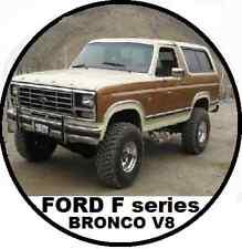 FORD F100 F150 F250 BRONCO V8 302 351 460 1980-1995 PERFORMANCE Workshop Manual