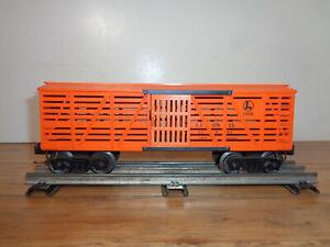 LIONEL O GAUGE # 6646 LIONEL LINES STOCK (Cattle)  CAR