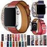 Echtes Leder Double Tour Armband Band iWatch Für Apple Watch Series 5 4 3 2 1