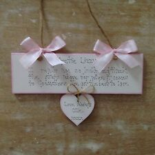 Personalised Godmother Christening Day Godparent Baby Keepsake Gift Plaque Sign