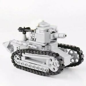 Lego ww2 Tank Renault FT-17 Char D'assaut WW1 Militaire bataille France soldat