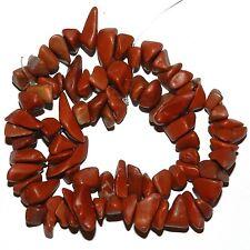 "NG2330f Red Jasper Large 10mm -16mm Natural Gemstone Chip Beads 15"""
