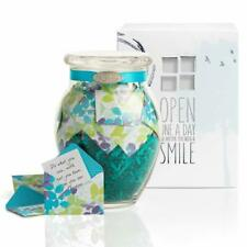KindNotes Glass Keepsake Gift Jar with Friendship and Inspirational Messages - C