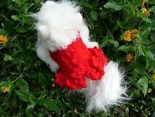 XXXXS handmade knit Red/Yellow/Green/Pink dog sweater dress