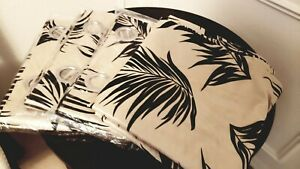 Moe's home furniture curtains champagne gold and black palm leaves