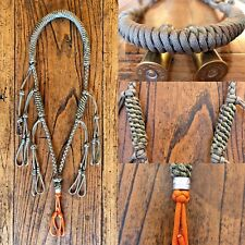 Custom Paracord Duck Goose Waterfowl Predator Call Lanyard Khaki & Camo