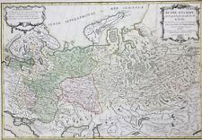 Russia 1772 divided into 14 governments & Scandinavia by Janvier, antique map