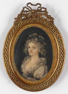 "Heinrich Friedrich Fueger (1751-1818)-Follower ""Portrait of a Lady"", early 19th"