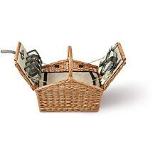 Picknickkorb für 4 Personen - Korb komplett als Kühltasche + Zubehör