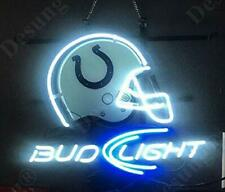 "New Indianapolis Colts Helmet Bud Neon Light Sign 24""x20"" Beer Cave Bar"