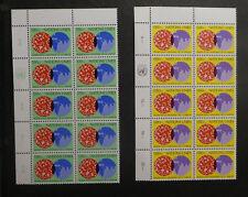TIMBRES NATIONS UNIES** Bureau de Genève - 1978 - Série en blocs de 10 (A428)