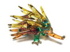 Miniature Echidna Porcupine Glass Blown animal figurine glass figurine dollhouse
