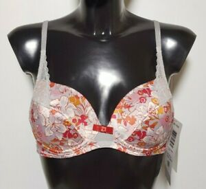 Triumph Womens Underwear Floral Bright Bra with Lace details Seduction 70B / 32B