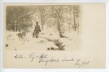 "Scarce JERSEY SHORE Williamsport PA ""Larrys Game Preserve"" RPPC Dog Photo 1916"