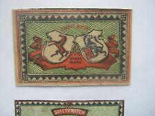 OLD JAPANESE HORSE MATCHBOX LABEL.DESIGN 12.