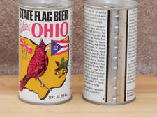 2 Ohio State Flag Beer Cans~Pull-Tab Air Sealed~August Schell Brewing Company