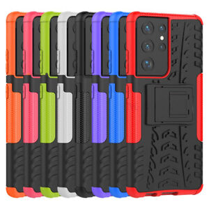 Heavy Duty Gorila Shock Proof Stand Case Cover Military Builder for Samsung S21