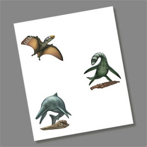 Temnodontosaurus, Dimorphodon and Plesiosaurus 50p Coin Decal/Sticker