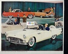FORD THUNDERBIRD FOR 1956 THE MINK COAT FOR FATHER WHITE CONVERTIBLE AD