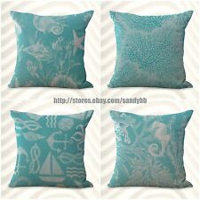 US Seller-4pcs patio seat bulk lot cushion covers coral reef sea star beach