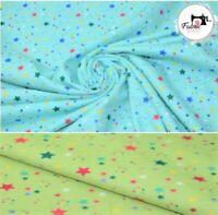 "Soft Brush Printed Flannel 100% Cotton Premium Stars Print, High Quality 54"""
