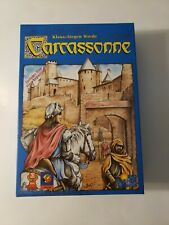Carcassonne game with river expansion tile laying game medieval time open box