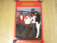 1986 80s vtg New Edition promo Poster Concert art Music without bobby brown Nos
