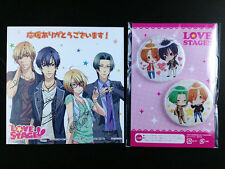 Love Stage!! Illustration Paper & Can Badge set official animate Yaoi BL New