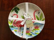 CYNTHIA ROWLEY 4pc Melamine PINK FLAMINGO 11  Dinner Plates DINNERWARE NWT : cynthia rowley dinnerware collection - pezcame.com