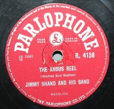 "10"" 78-JIMMY SHAND & sa bande-Angus Reel-PARLOPHONE R.4158 - 1956"