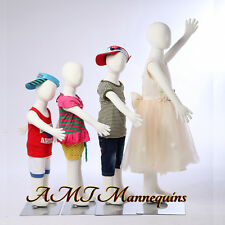 4 Child Mannequins full body kids display,flexible pinnable,4 children-R3468