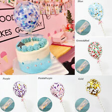 1PC Mini 5'' Confetti Ballons Cake Topper Birthday Baby Wedding Party Decor