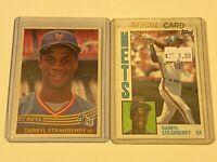 1984 DONRUSS & TOPPS Baseball Card Set #68 /#182 DARRYL STRAWBERRY ROOKIE RC LOT