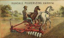 J.W Stoddard & Co Randall Pulverizing Harrow Farm Horses Man Tilling P53