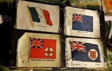 4 Vintage Cigarette Tobacco Silk National Flags (ca. 1912 - 1915.) Lot 4