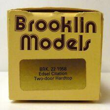 BROOKLIN 1958 EDSEL CITATION TWO DOOR HARDTOP BRK. 22  ( EMPTY BOX ONLY )