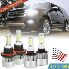 High Low Beam H13 9008 Headlight COB LED for Ford Mustang 05-12 Expedition 07-14