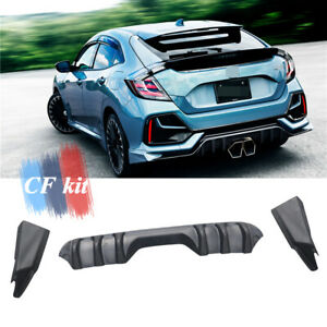 FRP Rear Bumpers Diffuser Winglet Apron Fit For Honda Civic FK7 Hatchback 19-21