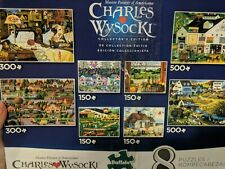 Charles Wysocki Collectors Edition 8 Puzzles 150 - 500 Pieces Game Family Jigsaw