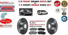 FOR MAZDA EUNOS 800 MPV 2.0 2.3 2.5  FRONT BRAKE DISCS SET + DISC PADS KIT