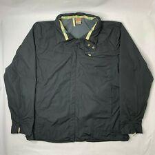 Merrell Mens XL Rain Jacket Gray Full Zip Long Sleeve Coat Hide Hood Windbreaker