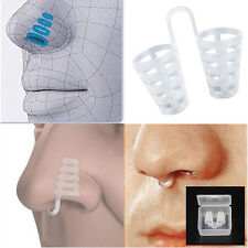 1PC Nasal Dilator Stop ANTI SNORING NO STRIPS Nose Device Soft Silicone