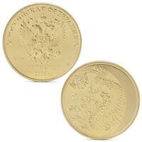 Russia Lunar Zodiac Dragon Gold Plated Commemorative Collection Memorial Coins