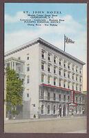 St. John Hotel Charleston South Carolina Linen Postcard