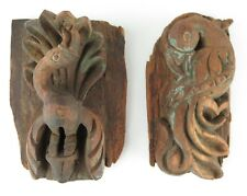 Antique Indian wooden temple carvings