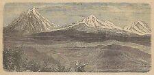 A3136 Montagne di Babor - Veduta - Stampa Antica del 1887 - Incisione