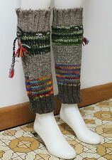 100% WOOLLEN BEAUTIFUL HAND KNITTED LEG WARMERS FOR THIS WINTER