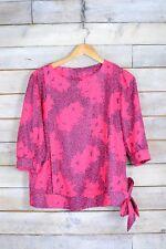 Vintage Fuchsia Pink Floral Blouse (L)